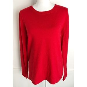 J. Crew • Red Crewneck Wool Sweater